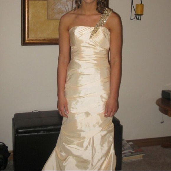 b841c0ce827af David's Bridal Dresses   Champagne Prom Dress   Poshmark
